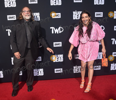 "Alanna Masterson, Greg Nicotero, TCL Chinese Theatre Photo - 24 September 2019 - Hollywood, California - Greg Nicotero, Alanna Masterson. ""The Walking Dead"" Season 10 Los Angeles Premiere held at The TCL Chinese Theatre. Photo Credit: Birdie Thompson/AdMedia"