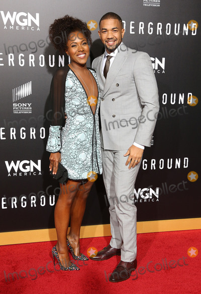 "DeWanda Wise, Alano Miller Photo - 28 February 2017 - Westwood, California - DeWanda Wise, Alano Miller. WGN America's ""Underground"" Season 2 Premiere