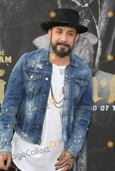 """A.J. McLean, The Sword, TCL Chinese Theatre Photo - 08 May 2017 - Hollywood, California - A.J. McLean. """"King Arthur: Legend Of The Sword"""" Los Angeles Premiere held at TCL Chinese Theatre. Photo Credit: AdMedia"""