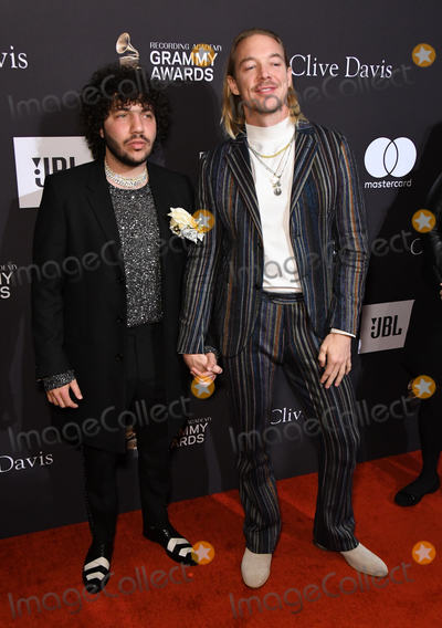 Clive Davis, Diplo, Benny Blanco Photo - 09 February 2019 - Beverly Hills, California - Benny Blanco, Diplo. The Recording Academy And Clive Davis' 2019 Pre-GRAMMY Gala held at the Beverly Hilton Hotel. Photo Credit: Birdie Thompson/AdMedia