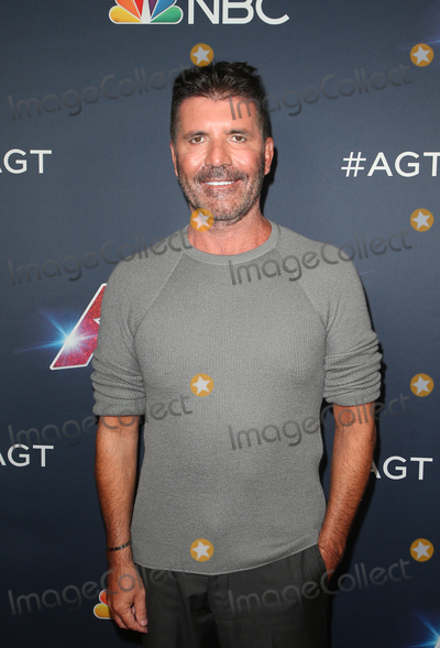 "Simon Cowell Photo - 13 August 2019 - Hollywood, California - Simon Cowell. ""America's Got Talent"" Season 14 Live Show Red Carpet held at Dolby Theatre. Photo Credit: FSadou/AdMedia"