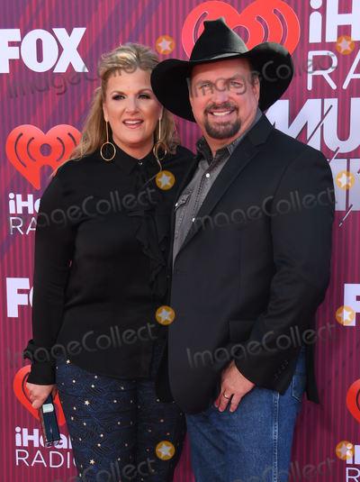 Photo - 14 March 2019 - Los Angeles, California - Trisha Yearwood, Garth Brooks. 2019 iHeart Radio Music Awards Arrivals held at Microsoft Theater. Photo Credit: Birdie Thompson/AdMedia