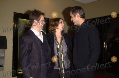 """Sam Rockwell, Drew Barrymore, George Clooney Photo - Sam Rockwell, Drew Barrymore and George Clooney at the premiere of Miramax's """"Confessions of a Dangerous Mind"""" at the Mann Bruin Theater, Westwood, CA 12-11-02"""