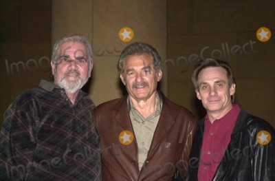 """Alex Rocco, Richard Rush, Steve Railsback, Rush, STUNT MAN Photo -  Alex Rocco, Richard Rush and Steve Railsback at the American Cinematheque's screening of """"The Stunt Man"""" in Hollywood, 02-18-00"""
