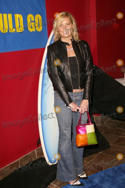 """Photo - Angie Benicki at the book launch for Stuart Coleman's """"Eddie Would Go"""" in Level 3, Hollywood and Highland Complex, Hollywood, CA. 03-23-04"""
