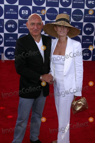 Alexandra Christmann, Ben Kingsley Photo - Sir Ben Kingsley and Lady Alexandra Christmann at the 2004 IFP Independent Spirit Awards - Arrivals at Santa Monica Beach, Santa Monica, CA. 02-28-04