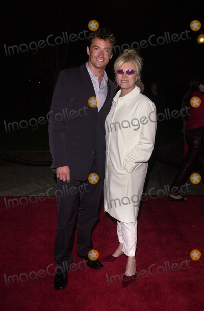 "Hugh Jackman Photo -  Hugh Jackman and girlfriend at the premiere of Paramount Pictures ""Lucky Numbers"" in Hollywood, 10-24-00"