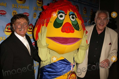 "Sid and Marty Krofft, Marty Krofft, H R, H R Pufnstuf, H. R., H. R. Pufnstuf, H.R., H.R. Pufnstuf, HR, HR Pufnstuf, Sid & Marty Krofft Photo - Sid and Marty Krofft at the ""H.R. Pufnstuf The Complete Series"" DVD Release Party, Museum of Television and Radio, Beverly Hills, CA 02-12-04"