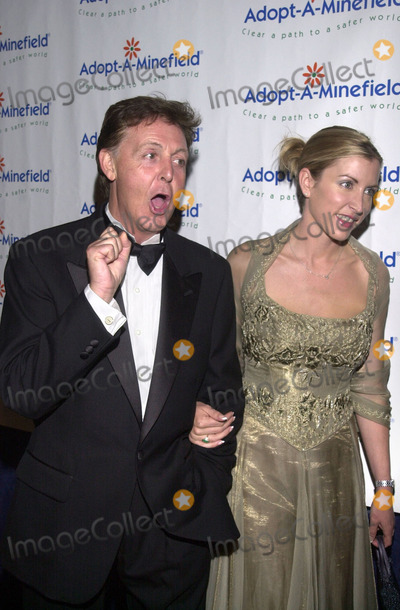 Paul Mccartney, Heather Mills, The Specials Photo -  Paul McCartney and Heather Mills at the special benefit for Adopt-A-Minefield, Regent Beverly Wilshire Hotel, Beverly Hills, 06-14-01
