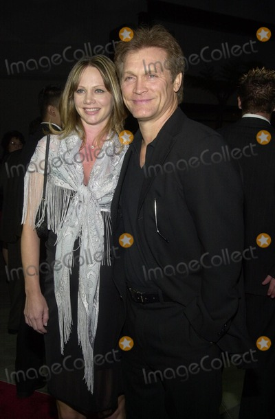"Andrew Stevens, Robyn Photo - Andrew Stevens and wife Robyn at the premiere of Warner Bros. ""Ballistic: Ecks Vs. Sever"" premiere at the Cinerama Dome, Hollywood, 09-18-02"