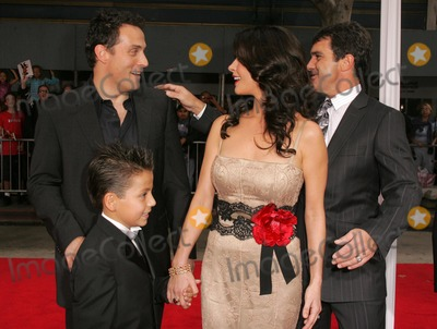"""Rufus Sewell, Adrian Alonso, Antonio Banderas, Catherine Zeta-Jones Photo - Rufus Sewell and Catherine Zeta-Jones with Antonio Banderas and Adrian Alonsoat the premiere of """"The Legend of Zorro"""". Orpheum Theater, Los Angeles, CA. 10-16-05"""