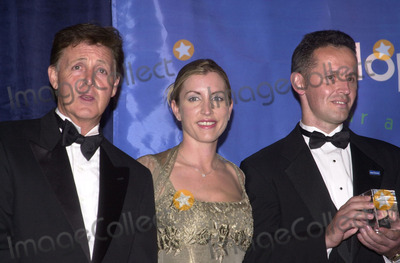Paul Mccartney, Heather Mills, The Specials Photo -  Paul McCartney, Heather Mills, Radosav Zikovic at the special benefit for Adopt-A-Minefield, Regent Beverly Wilshire Hotel, Beverly Hills, 06-14-01