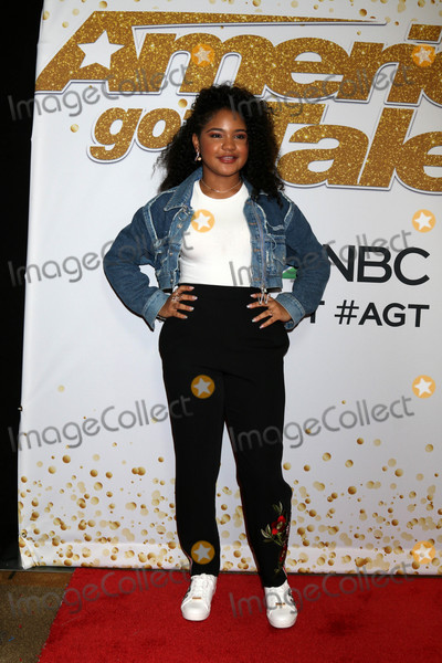 "Photo - Amanda Mena at the ""America's Got Talent"" Season 13 Live Show Red Carpet, Dolby Theater, Hollywood, CA 08-14-18"