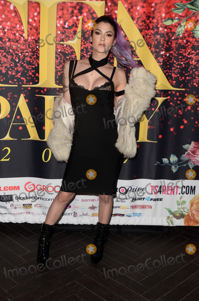 Photos And Pictures Domino Presley At The 2017 Official Transgender Erotica Awards Tea Pre Party Avalon Hollywood Ca