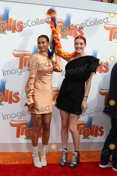 "Caroline Hjelt, Aino Jawo, Icona Pop, Trolls Premiere Photo - Icona Pop, Aino Jawo, Caroline Hjelt at the ""Trolls"" Premiere, Village Theater, Westwood, CA 10-23-16"