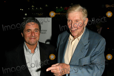 Brad Grey, Kiss, Sumner Redstone Photo - Brad Grey and Sumner Redstone