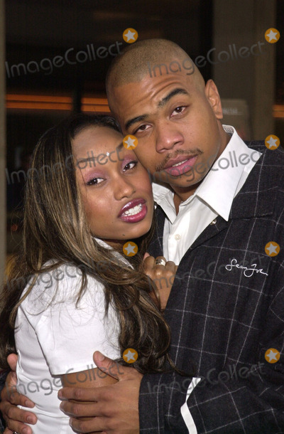 """Angell Conwell, Omar Gooding Photo -  Angell Conwell and Omar Gooding at the premiere of the Lions Gate film """"O"""" at Loews Cineplex Theaters, Century City, 08-27-01"""