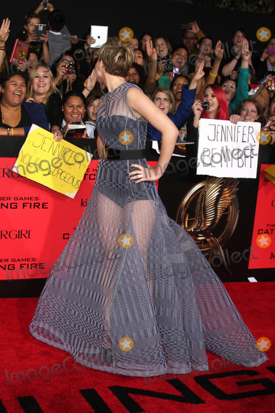 """Jennifer Lawrence Photo - Jennifer Lawrence at """"The Hunger Games: Catching Fire"""" Los Angeles Premiere, Nokia Theatre L.A. Live, Los Angeles, CA 11-18-13"""