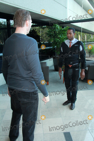 Amiel Photo - Amiel Traynum, Jim Foster vetting the new Gravity Suit for Injured Athletes, Private Location, Los Angeles, CA 01-08-15