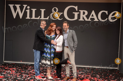 "Debra Messing, Megan Mullally, Sean Hayes Photo - Sean Hayes, Debra Messing, Megan Mullally, Eric McCormack at the ""Will & Grace"" Start of Production Kick Off Event, Universal Studios, Universal City, CA 08-02-17"