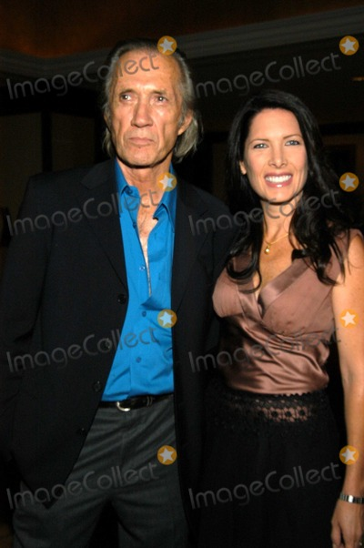 "David Carradine, Annie Bierman Photo - David Carradine and Annie Bierman at 29th Annual ""Dinner of Champions"" Award and Benefit Fundraiser, Century Plaza Hotel, Century City, Calif., 09-25-03"