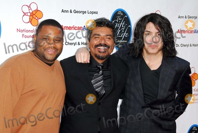 Anthony Anderson, George Lopez, Paul Stanley Photo - Anthony Anderson with George Lopez and Paul Stanley