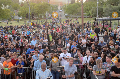 Adam West, Angel City Photo - Atmosphere at the Bat Signal Lighting Ceremony to honor Adam West, Los Angeles City Hall, Los Angeles, CA 06-15-17