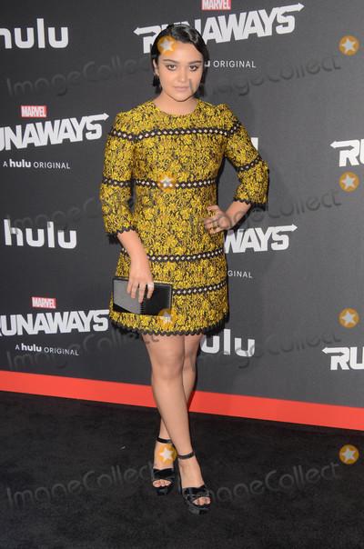 "Runaways, Ariela Barer Photo - Ariela Barer at the ""Marvel's Runaways"" Los Angeles Premiere, Bruin Theater, Westwood, CA 11-16-17"