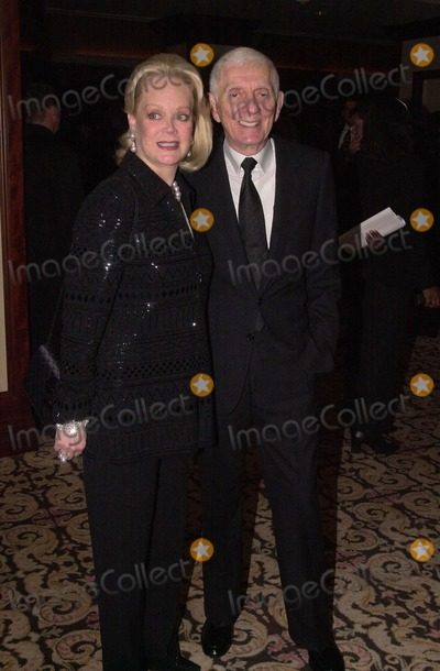 Aaron Spelling Photo -  Aaron Spelling and wife Candy at the 2000 Golden Laurel Awards, Beverly Hills, 03-02-00