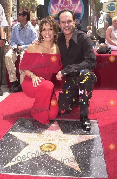 "KC, KC and the Sunshine Band Photo - Karry Wayne ""KC"" Casey and Maria De Crescenzo at KC and The Sunshine Band induction ceremony into Hollywood's Walk of Fame, Hollywood Blvd, CA 08-02-02"