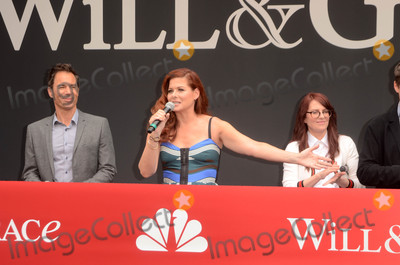 "Debra Messing, Megan Mullally Photo - Eric McCormack, Debra Messing, Megan Mullally at the ""Will & Grace"" Start of Production Kick Off Event, Universal Studios, Universal City, CA 08-02-17"