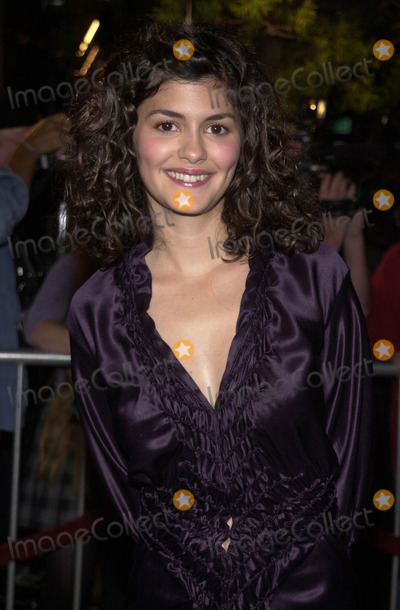 """Audrey Tautou, Samuel Goldwyn Photo -  AUDREY TAUTOU at the premiere of Miramax's """"Amelie"""" at the Academy of Motion Pictures Arts and Sciences Samuel Goldwyn Theater, Beverly Hills, 10-09-01"""