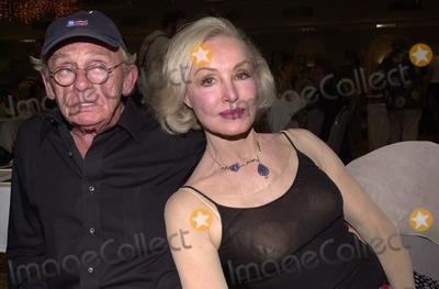 Frank Gorshin, Julie Newmar, Beverly Garland Photo - Frank Gorshin and Julie Newmar at a Twilight Zone reunion and convention at the Beverly Garland Holiday Inn, North Hollywood, CA 08-24-02