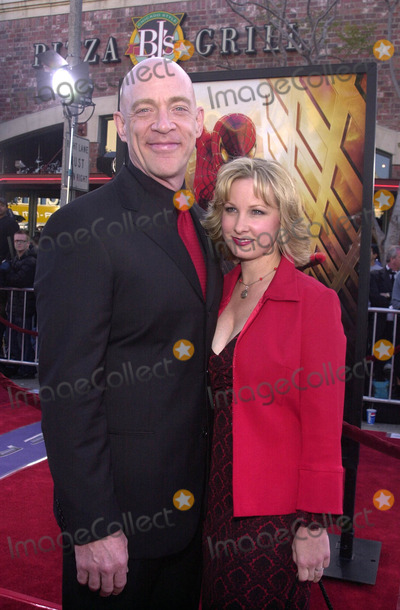 """J.K. Simmons, J K Simmons, J. K. Simmons, Spiderman, JK Simmons, J.K Simmons Photo - J.K. Simmons and wife Michelle at the premiere of Columbia Pictures """"Spiderman"""" in Westwood, 04-29-02"""