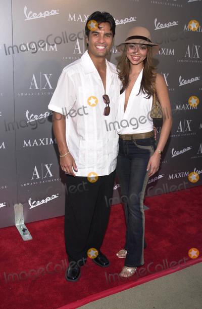 Jose Solano Photo -  JOSE SOLANO and MONICA HERNANDEZ at the Armani Santa Monica's 10th Anniversary Party, Santa Monica Promenade,  08-23-01