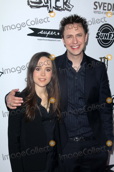 """Ellen Page, James Gunn Photo - Ellen Page and James Gunn at the """"Super"""" Los Angeles Premiere, Egyptian Theater, Hollywood, CA. 03-21-11"""