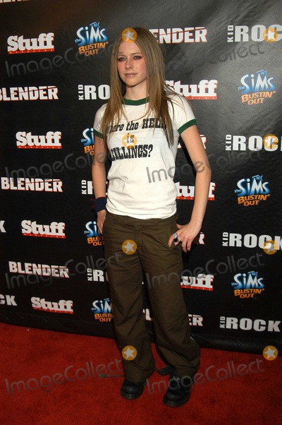 Kid Rock, AVRIL LEVIGNE Photo - Avril Levigne at Kid Rock's After-Party for the 2003 American Music Awards, Forbidden City, Hollywood, Calif., 11-16-03