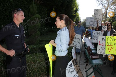 Casey Kasem, Kerri Kasem, The Police Photo - Kerri Kasem talks to the police at a protest involving Casey Kasem's children, brother and friends who want to see him but have been denied any contact,  Private Location, Holmby Hills, CA 10-01-13