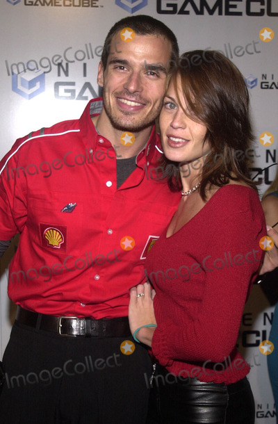 Antonio Sabato Jr., Antonio Sabato, Jr. Photo -  ANTONIO SABATO JR. and DATE at the launch party for the new Nintendo Game Cube system, sponsored by MTV, in Hollywood, 10-03-01