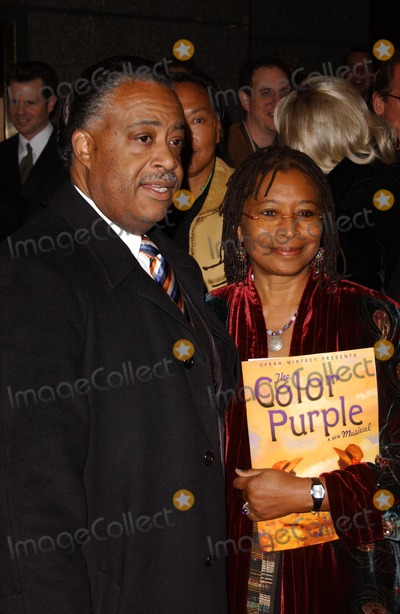 """Al Sharpton, Alice Walker Photo - Al Sharpton and Alice Walkerat the Broadway Opening of """"The Color Purple"""". The Broadway Theatre, New York, NY. 12-01-05"""