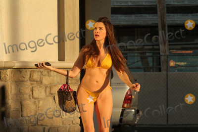 """Alicia Arden Photo - Alicia Arden the """"Baywatch"""" actress is spotted in a yellow micro-bikini going to a tanning salon in Los Angeles, CA 09-11-18"""