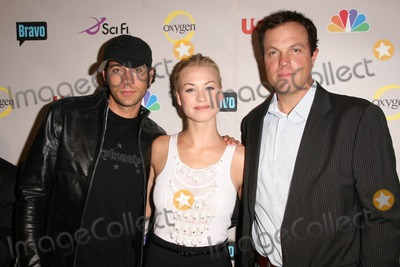 Adam Baldwin, Yvonne Strahovski, Zachary Levi Photo - Zachary Levi with Yvonne Strahovski and Adam Baldwin