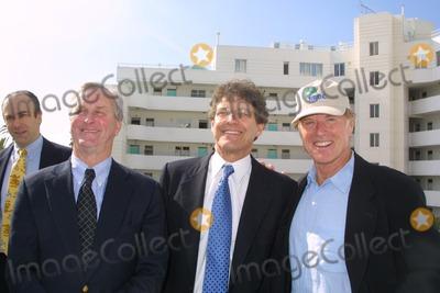 "John Adams, Alan Horn, Robert Redford, Alan Horne Photo - John Adams, Alan Horn and Robert Redford at the opening of the NRDC's ""Green Building"" named for Robert Redford, Santa Monica, CA 11-14-03"