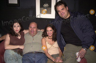 "Angela Pupello, Robert Costanzo, Charlene Amola, Mel Rodriguez, Mel Tormé Photo - Angela Pupello, Robert Costanzo, Charlene Amola and Mel Rodriguez at the afterparty for the opening of the play ""West Of Brooklyn,""  Space Theater, Los Angeles, 07-06-02"