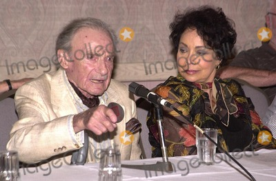 """Jonathan Harris, Arlene Martel, Beverly Garland Photo - Jonathan Harris and Arlene Martel who co-starred in the TZ episode """"Twenty-Two"""" at a Twilight Zone reunion and convention at the Beverly Garland Holiday Inn, North Hollywood, CA 08-24-02"""