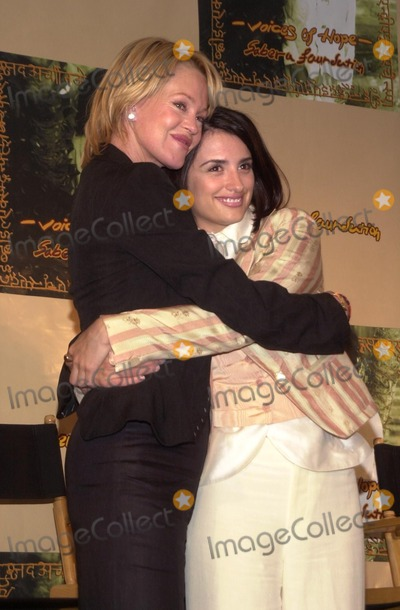 Melanie Griffith, Penelope Cruz, Penelope  Cruz, Melanie Griffiths Photo - Melanie Griffith and Penelope Cruz at the Sabera Foundation Press Conference, helping children and wives in India who have been abandoned, CAA, Beverly Hills, CA 10-10-02