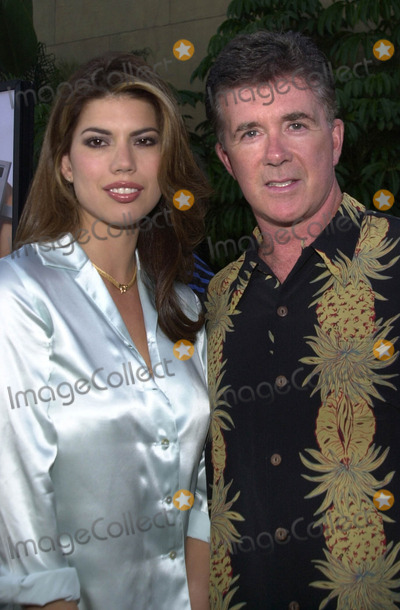 "Alan Thicke Photo -  ALAN THICKE and TANYA at the premiere of Warner Brothers ""Osmosis Jones"" at the Egyptian Theater, Hollywood, 08-07-01"