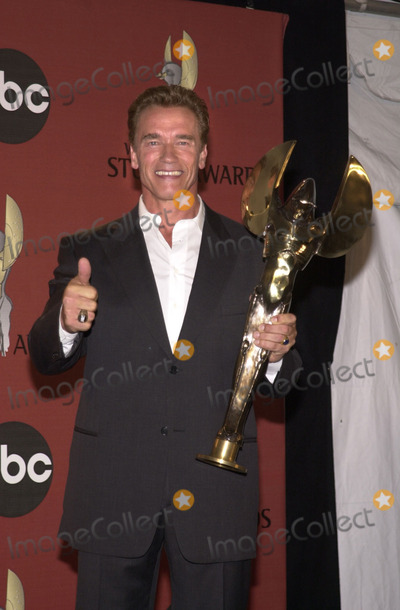 Arnold Schwarzenegger Photo -  Arnold Schwarzenegger at the inaugural World Stunt Awards, Barker Hanger, Santa Monica, 05-21-01