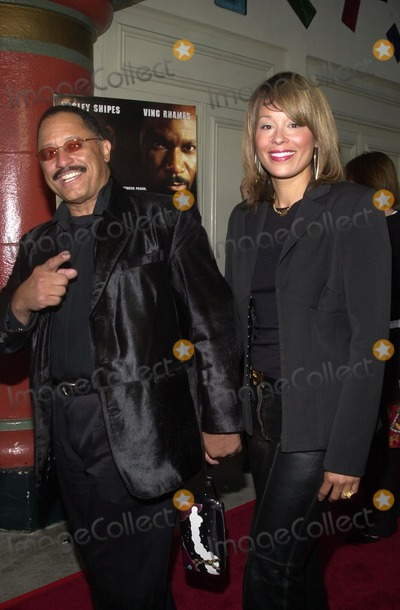 "Judge Joe Brown, Joe Brown Photo - Judge Joe Brown and wife at the premiere of Miramax Films ""Undisputed"" at Mann Festival Theater, Westwood, CA 08-21-02"