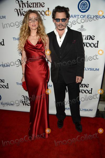 Amber Heard, Johnny Depp Photo - Amber Heard, Johnny Depp at The Art of Elysium's Ninth Annual Heaven Gala, 3LABS, Culver City, CA 01-09-16